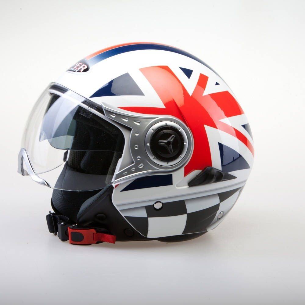 Viper RS-V18 Matt Black Union Jack Open Face Scooter Motorcycle Helmet