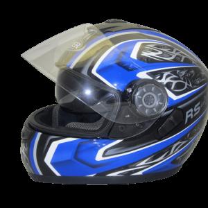 c840f035 Viper Motorcycle Helmet Integral Full Face Protection Integral Sun Visor  3GO E5V (V5 Vigor) Black/Blue 5055966308146